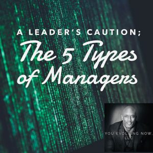 A Leader's Caution - The 5 Types of Managers as discussed with You Evolving Now