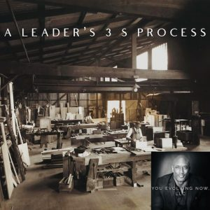 A Leader's 3 S Process website invitation for You Evolving Now